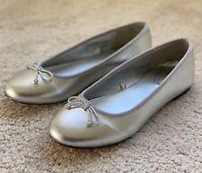 NEW J Crew Crewcuts Girls Silver Ballet Flats Size 4