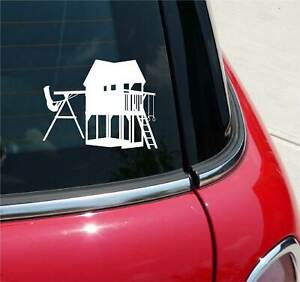 JUNGLE GYM PLAY HUT OUTSIDE PLAY GRAPHIC DECAL STICKER ART CAR WALL DECOR