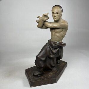 "Shaolin Monk Kung Fu Martial Arts Mudman 9"" Figurine Figure Ornament Statue VG"