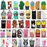 For iPhone X 5 6 6s 7 8 Plus 3D Cute Cartoon Soft Silicone Phone Case Cover Back