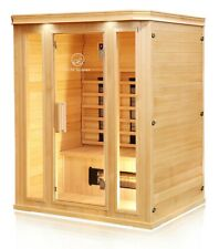 Hemlock Wood Ceramic FAR Infrared Heated 3 Person Indoor Sauna
