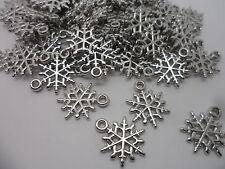 100 Snow Flake~ Acrylic,Frozen Snowflake Charm Pendants/Beads~Jewellery  making