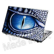 "15.6"" Laptop Skin Sticker Decal Blue Dragon Eye Fantasy"