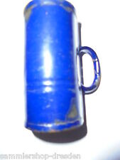 26563 ur altes Maß Emaille blau weiß genietet 1900 8cm vintage measuring jug