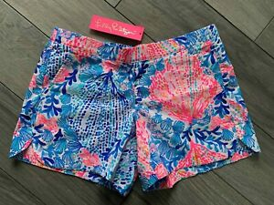 """LILLY PULITZER OCEAN VIEW SHORT 5"""", SWAY WITH ME, NWT, SMALL"""