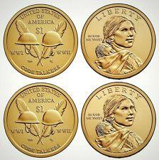 2016 USA Native American Sacagawea P&D Dollar Set!!