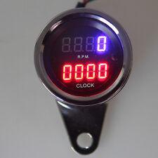 Motorcycle LED Digital RPM Tachometer Gauge Combo Tach Dirt Bike Scooter Cruiser