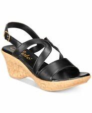 Callisto Pomfret Black Sandals Wedges NEW 9 M
