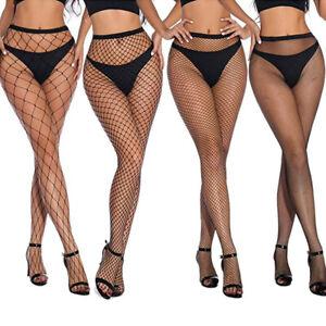 Sexy Women Fencenet Fishnet Net Tights Small Medium Large Hole Stockings Set UK