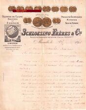 Beau Document du 21/02/1896 SCHLOESING Frères - Produits chimiques -Marseille 13