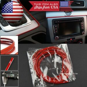"1 x 108"" Red Molding Stripe Trim Line For Honda Acura Console Dashboard Spoiler"