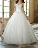 New Lace&Tulle Beads Bridal Gown Ball Gown Wedding Dress Size 6 8 10 12 14 16