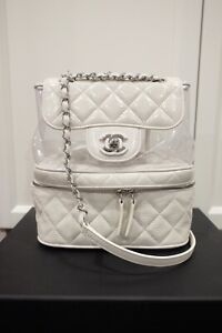 Chanel Crumpled Leather PVC Backpack