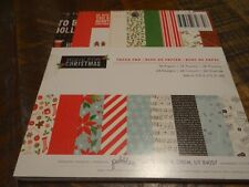 HOME FOR CHRISTMAS PAPER PAD 6X6 PEBBLES WINTER SCRAPBOOK CARDS