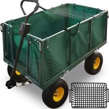Deuba 101453 114x52x105cm Chariot de Transport avec Barre de Traction jusqu'à 544kg - Vert