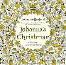 Johanna Basford Festive Christmas Adult Colouring Book Gift Decorations Stocking