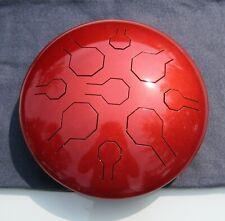 Steel Tongue Drum,Handpan, EDELSTAHL, Copper Sun - Double VibeDrum-B, 18 Noten