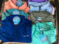 NWT Columbia Men's Cool Freezer Coil Zip Polo Shirt Classic-Fit Size M