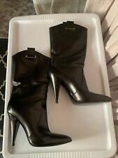 Casadei Black Leather Boots size 39.5