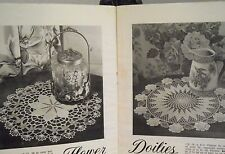 1950 County Fair Crochet Patterns Lily Thread Rose Circle Doily Filet Calla Lily