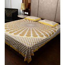 Indian Queen Bedding Set Tapestry Hippie Bohemian Mandala Bed Sheet 2 Pillow B6