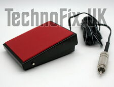 Metal PTT Tx/Rx transmit foot-switch, phono RCA connector for W2IHY Eq etc.