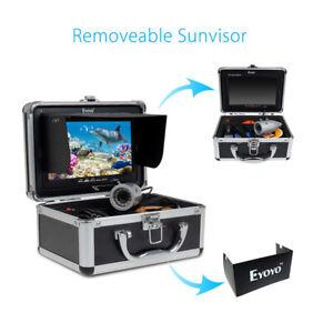 "7"" Eyoyo 50m LCD Fish Finder Underwater Fishing HD Video Camera +Sunshield Bro"