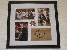 Mark Turgeon Signed Floorboard Maryland Basketball Coa