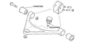 Bentley Arnage Upper Control Arm Bush Kit X 4
