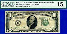 FR-2000-I* 1928 $10 FRN (( STAR )) *** Minneapolis *** PMG Fine 15 # I00027770*