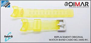 Replacement Original Watch Band Casio BG-340S-9V