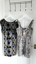 TWO LOVELY DRESSES SIZE 10 NEW WITH TAGS H&M /TOPSHOP
