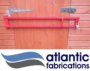 heavy duty security door bar 1500mm red/ black home, office , shed , garage
