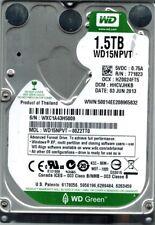 Western Digital WD15NPVT-00Z2TT0 1.5TB DCM: HHCVJHKB