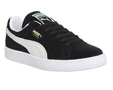 Men's Puma Suede Classic + Black Suede Retro Fashion Trainers UK Sizes 6 - 13