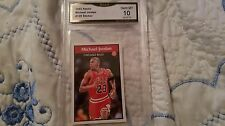 1992 PANINI MICHAEL JORDAN BASKETBALL CARD STICKER # 128 GRADED GEM MINT 10