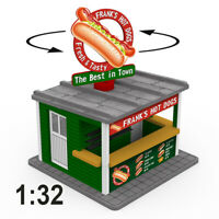 1:32 Scale Hot Dog Stand Kit w/Motorized Rotating Banner for Slot Cars