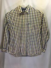 Tommy Hilfiger long sleeved men's Button Down shirt. Size L Yellow & Blue