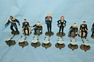 1999 Star Trek The Next Generation 3-D Chess Set Pieces Only Complete No Board
