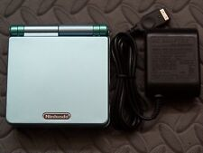 Game Boy Advance SP Handheld System AGS001 W/Glass Screen Pearl Blue +Green