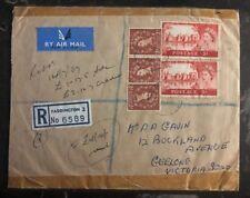 1967 Paddington England Registered Airmail Cover To Geelong Australia