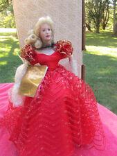 Nib Franklin Mint Heirloom Doll ~ Ruby ~ Gemstone Girls Porcelain ~1989~ Beauty!
