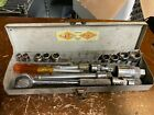 "Vintage S-k Tools Socket Wratchet Set w/ Case 1/4"" Lectrolite Ohio Chicago"