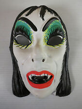 Vintage Halloween Mask 1970s Adult Female Vampire