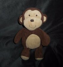 "9"" CARTER'S BABY MONKEY BROWN & TAN STUFFED ANIMAL PLUSH TOY SOFT LOVEY # 61194"