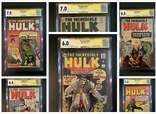 INCREDIBLE HULK # 1 - 6 CGC 6.0 All SIGNED SS STAN LEE 1ST AVENGERS IRON MAN 181