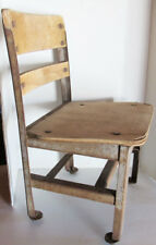 Antique Vintage Children's Kid's Small School Wood/Metal Chair. 21inches tall