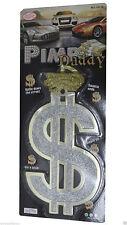 New Men Silver Pimp Daddy Big Dollar Sign ($)Pendant Necklace