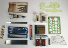 Lot Drafting Lettering Supplies Koh-I-Noor Templates Stencils Lead Jewel Points