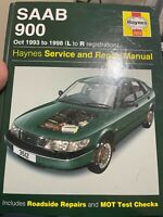 HAYNES 3512 Oct 1993 to 1998 Saab 900 L to R Registration Service Repair Manual